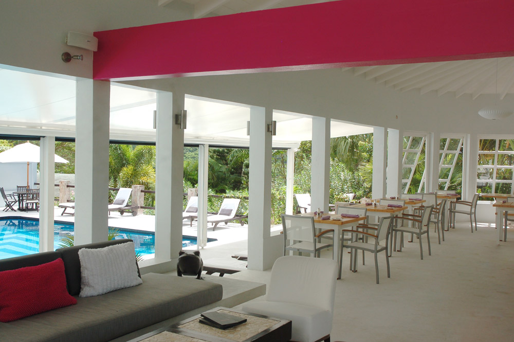 Lounge by the Pool at Montpelier Plantation Inn West IndiesSt. Kitts and Nevis