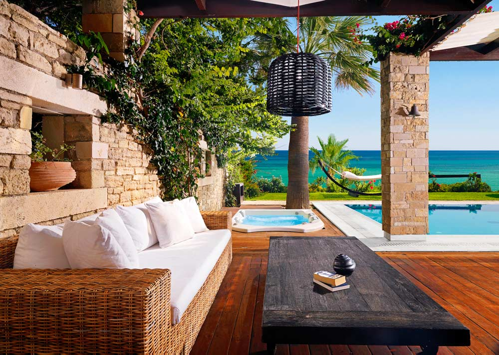 Private Pool Lounge Area at Porto Zante Villas and Spa ZakynthosGreece