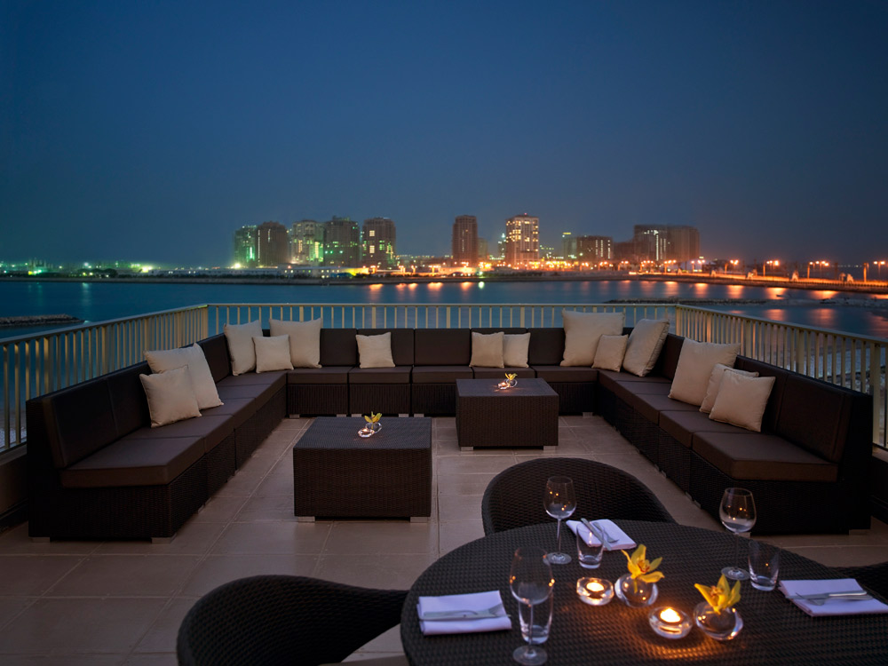 View from terrace lounge at Grand Hyatt DohaQatar