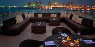 View from terrace lounge at Grand Hyatt Doha, Qatar