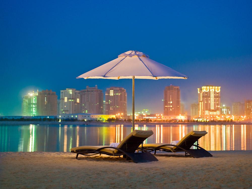 Beach Lounge at Grand Hyatt Doha, Qatar