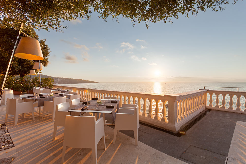 Volcano View from Grand Hotel Cocumella in SantAgnello di SorrentoItaly
