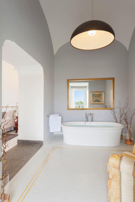 The Suite Sea View Bathroom at Grand Hotel Cocumella in SantAgnello di SorrentoItaly