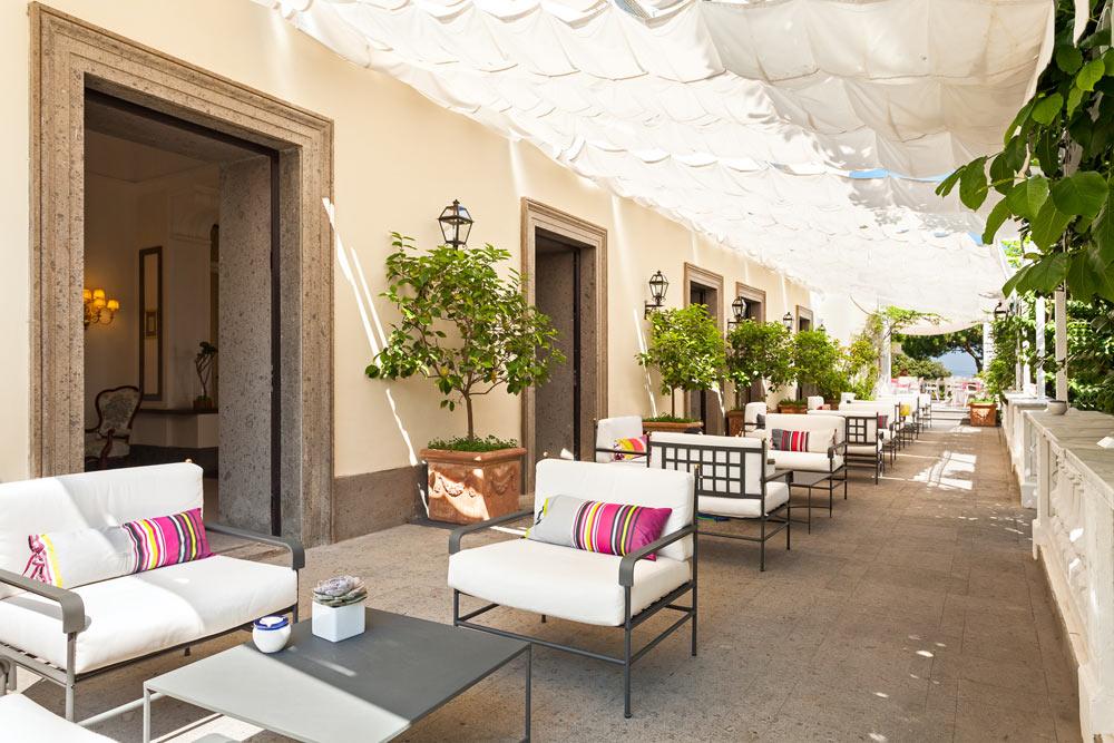 Lobby Terrace at Grand Hotel Cocumella in SantAgnello di SorrentoItaly
