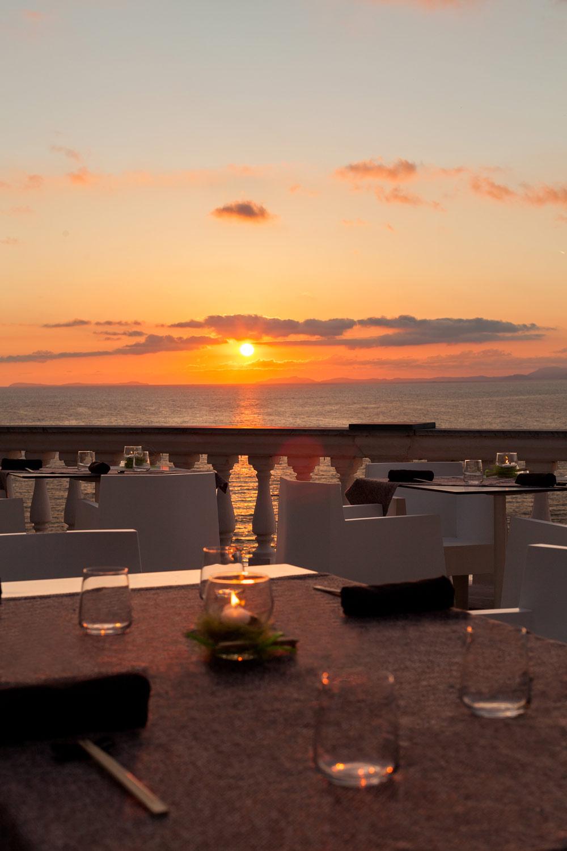 Sunset from the terrace of Grand Hotel Cocumella in SantAgnello di SorrentoItaly