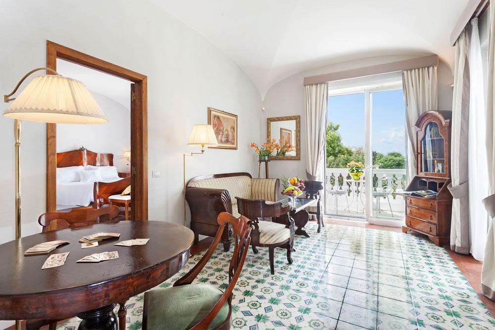 The Suite Sea View Room at Grand Hotel Cocumella in SantAgnello di SorrentoItaly