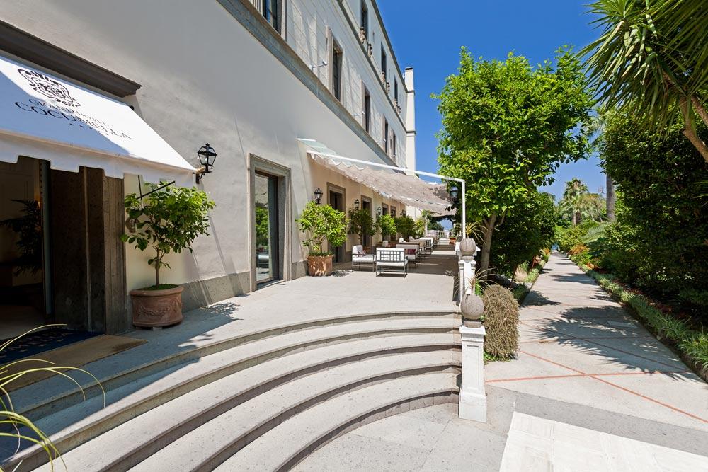 Terrace and Garden at Grand Hotel Cocumella in SantAgnello di SorrentoItaly