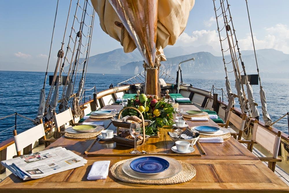 Dining at the VeraThe Tall Ship at Grand Hotel Cocumella in SantAgnello di SorrentoItaly