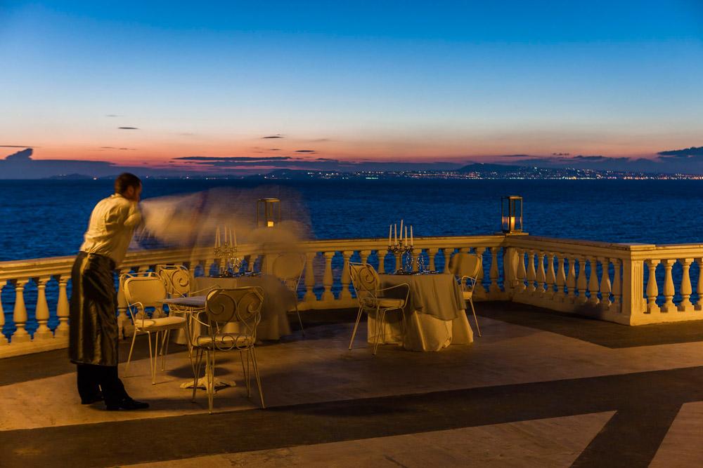 Terrace at Grand Hotel Cocumella in SantAgnello di SorrentoItaly