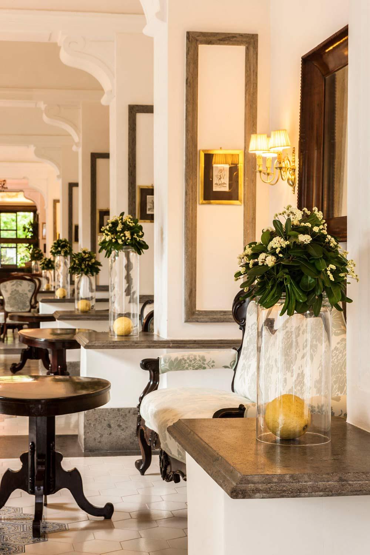 Lobby of Grand Hotel Cocumella in SantAgnello di SorrentoItaly