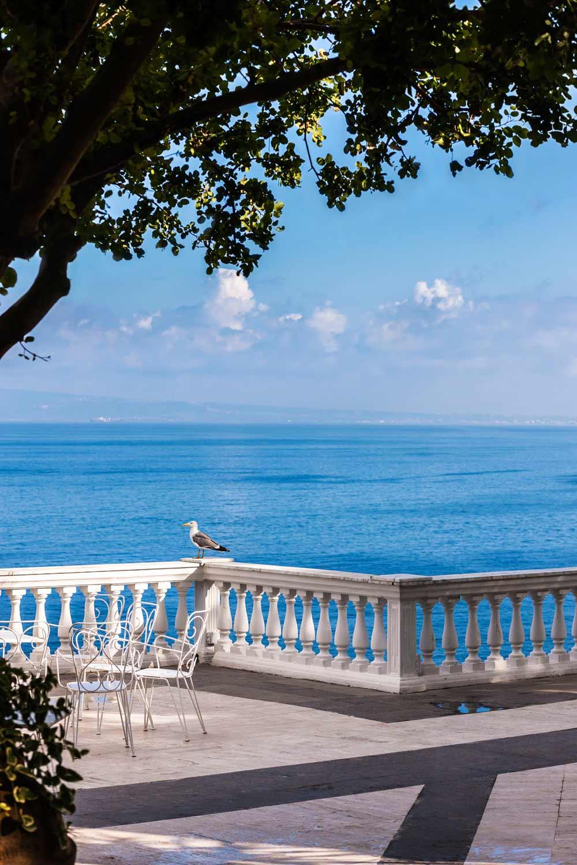 Terrace of Grand Hotel Cocumella in SantAgnello di SorrentoItaly