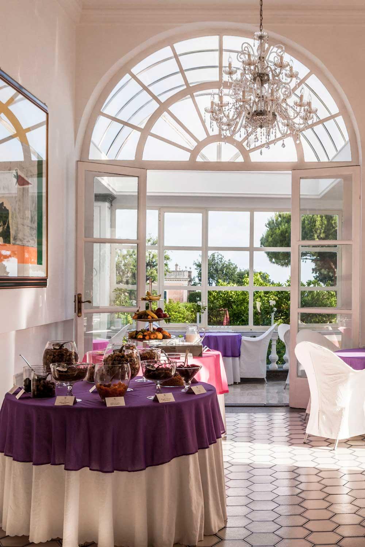 Restaurant Breakfast at Grand Hotel Cocumella in SantAgnello di SorrentoItaly