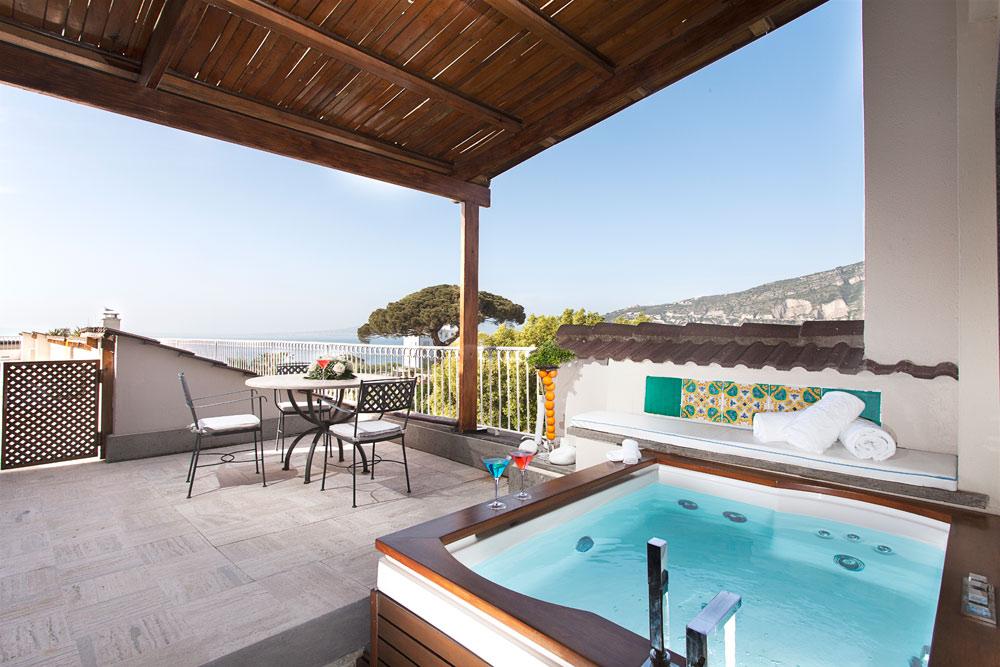 Guestroom Terrace at Grand Hotel Cocumella in SantAgnello di SorrentoItaly