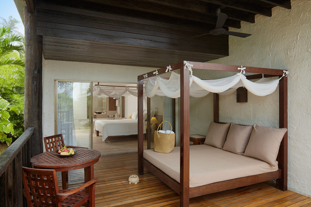 Deluxe Studio terrace at Evason Hua Hin, Khirikhan, Thailand