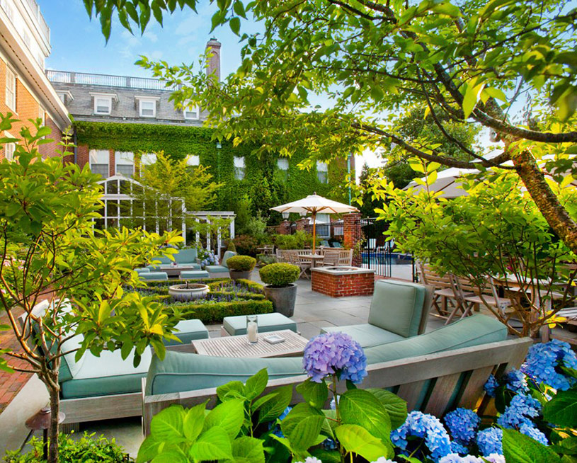 Garden and Pool at Vanderbilt Hall