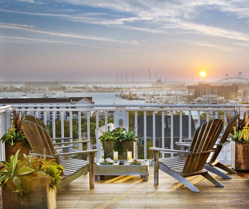 View of Newport Harbour from the Vanderbilt Hall