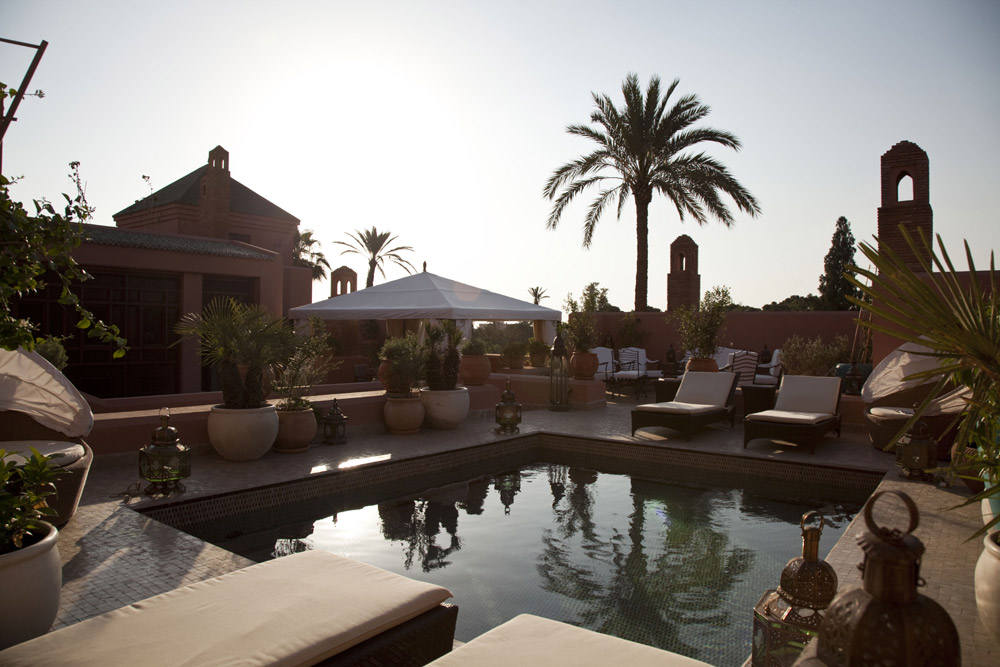 Pool and Lounge at Royal Mansour MarrakechMorocco
