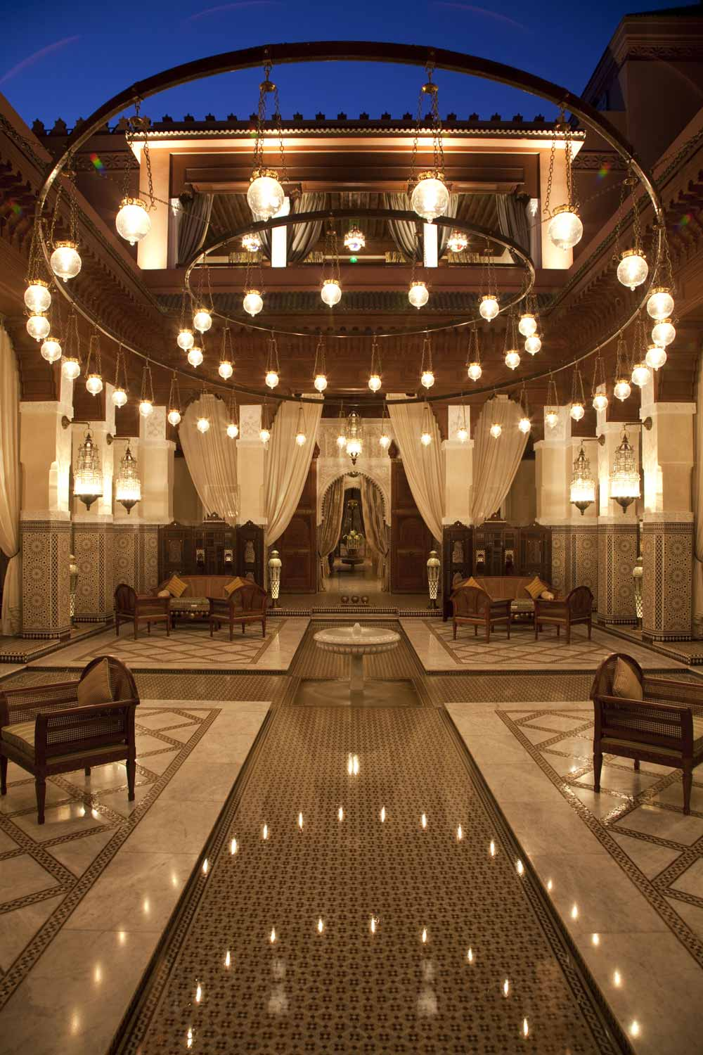 Lobby of Royal Mansour MarrakechMorocco