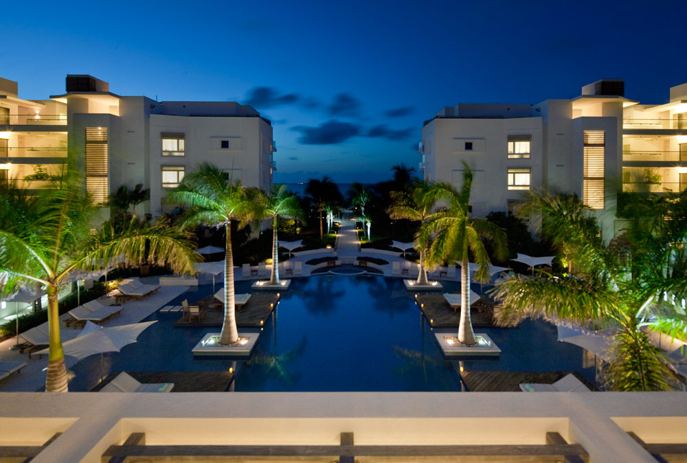 Balcony View of The Infinity Pool at Gansevoort Turks and Caicos, Providenciales, Turks & Caicos Islands