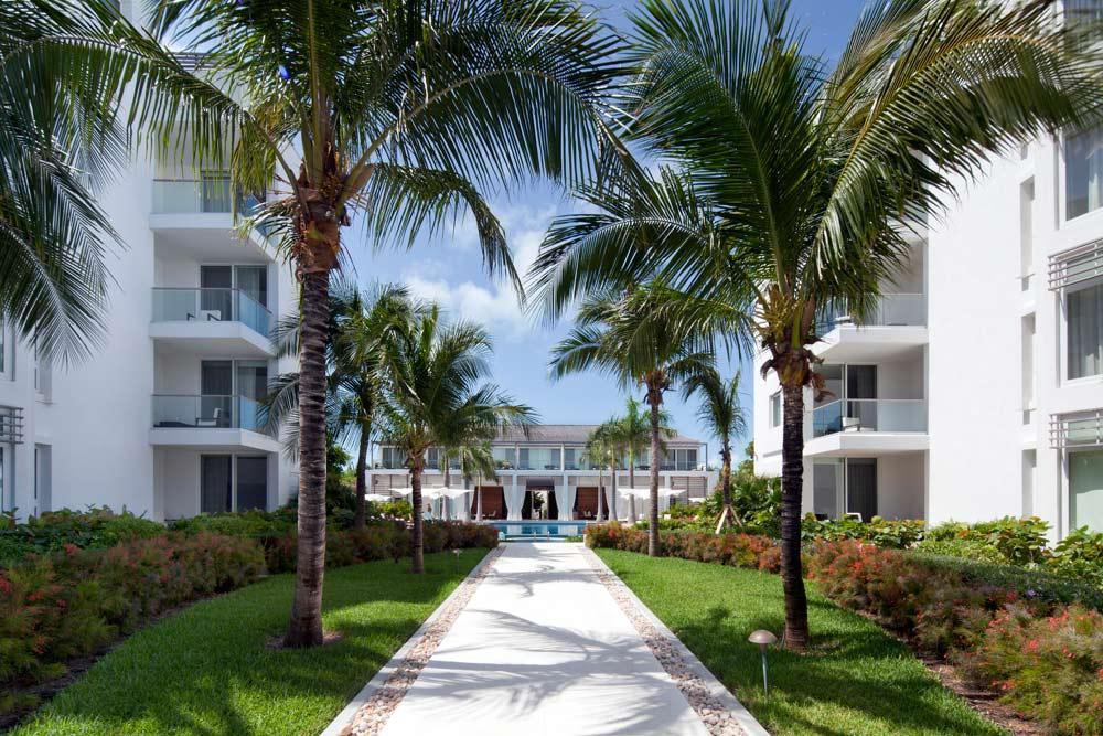 Boardwalk Between Buildings at Gansevoort Turks and Caicos, Providenciales, Turks & Caicos Islands