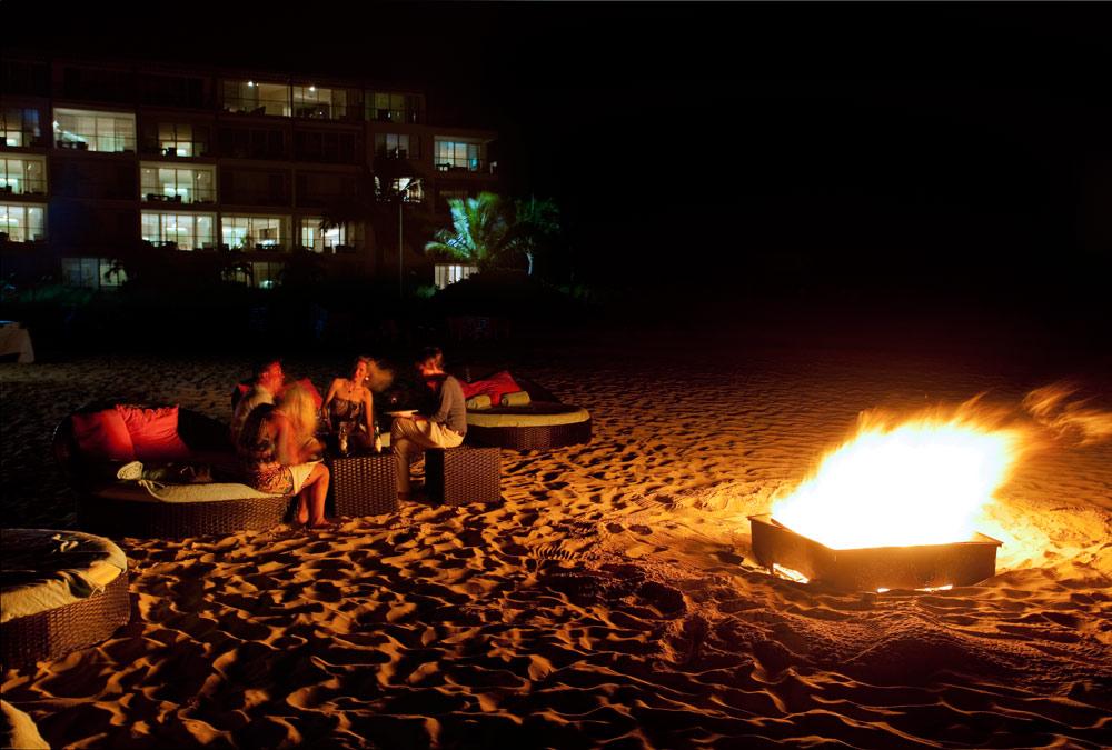 Beach Bonfire at Gansevoort Turks and Caicos, Providenciales, Turks & Caicos Islands