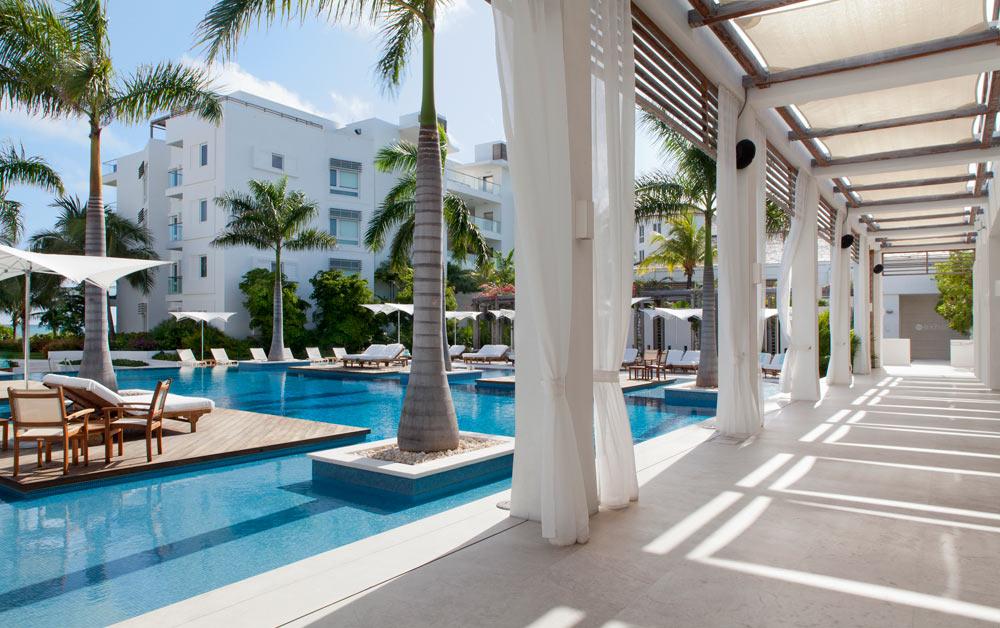 Pool Area Walkway at Gansevoort Turks and Caicos, Providenciales, Turks & Caicos Islands