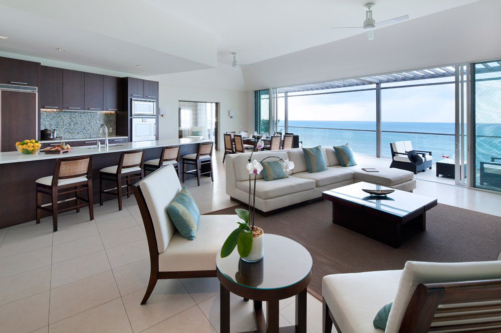 Penthouse Living Room at Gansevoort Turks and Caicos, Providenciales, Turks & Caicos Islands
