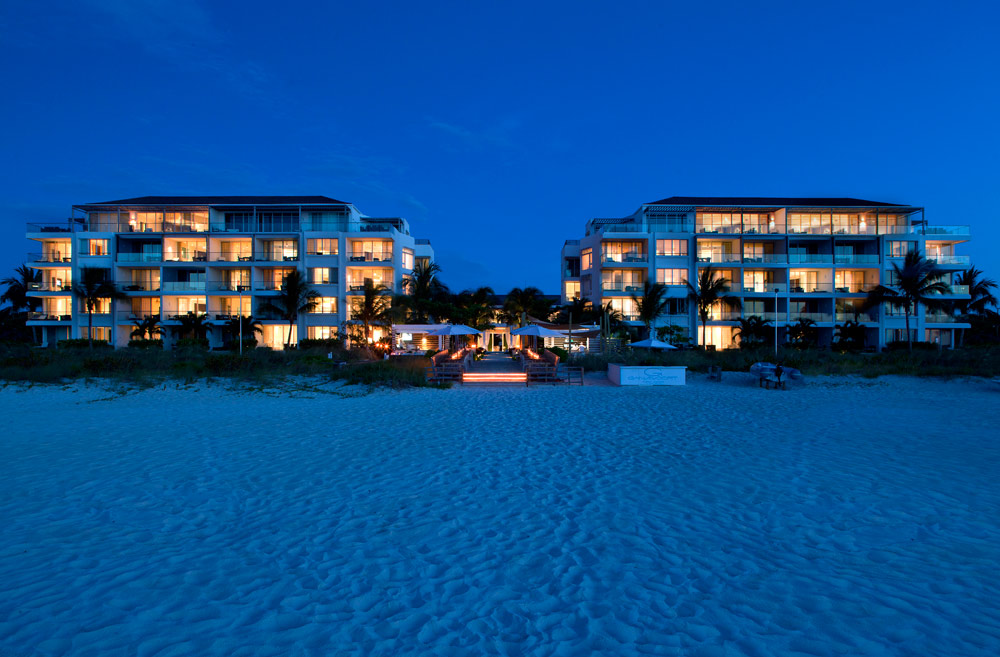View of The Beach in The Evening Time at Gansevoort Turks and Caicos, Providenciales, Turks & Caicos Islands