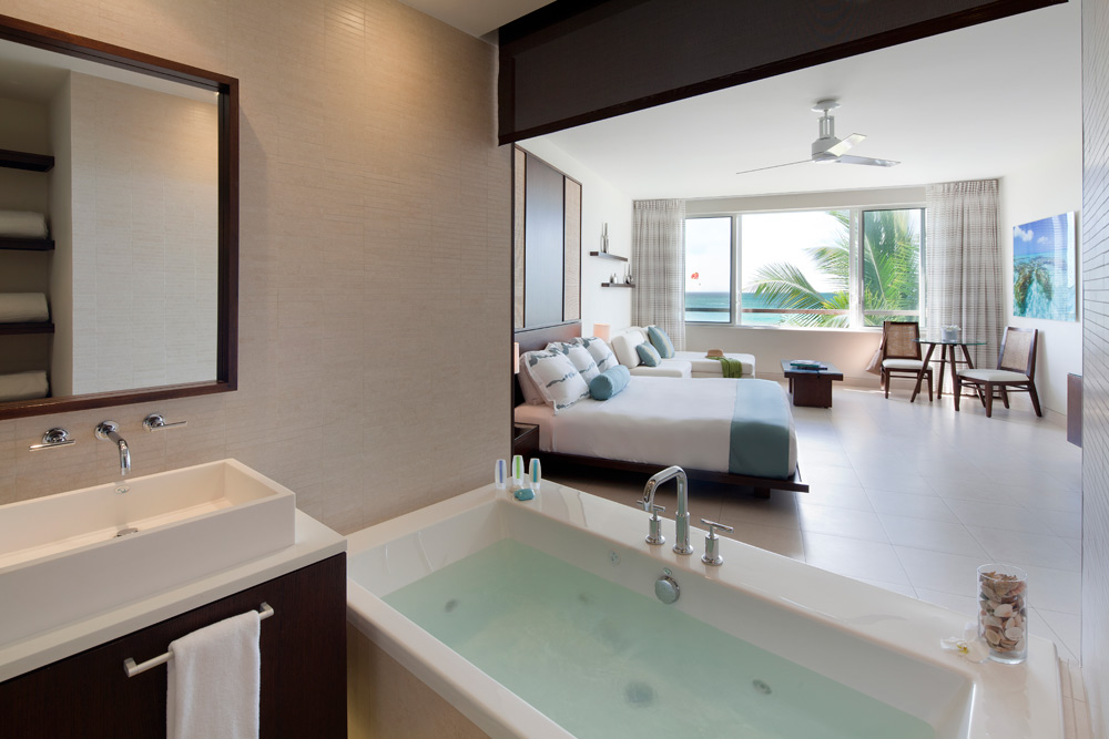 Luxury Ocean Beachfront Spa Studio Room at Gansevoort Turks and Caicos, Providenciales, Turks & Caicos Islands
