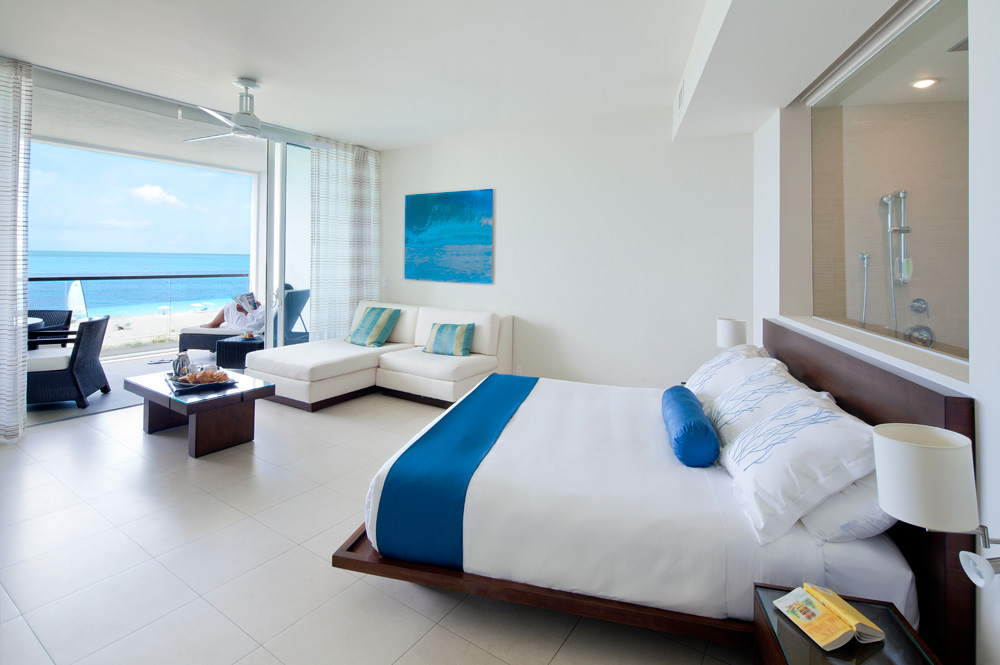 Luxury Ocean Beach Front Studio with Terrace at Gansevoort Turks and Caicos, Providenciales, Turks & Caicos Islands