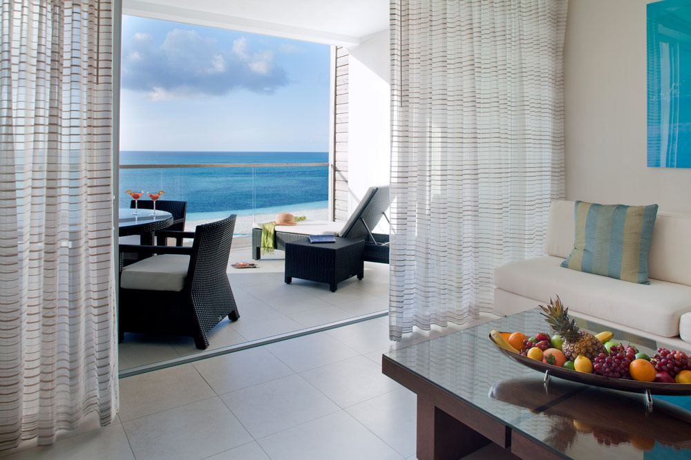 One Bedroom Suite Terrace with Views of Grace Bay Beach at Gansevoort Turks and Caicos, Providenciales, Turks & Caicos Islands