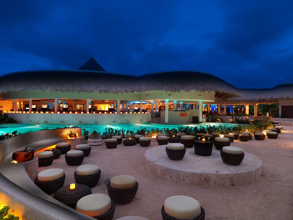 Beach Bar and Lounge at The Reserve at Paradisus Palma RealDominican Republic
