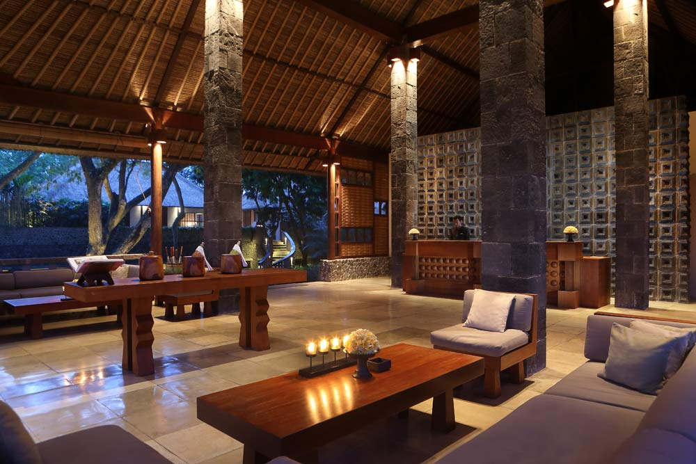 Reception Area in the Lobby at the Alila Ubud
