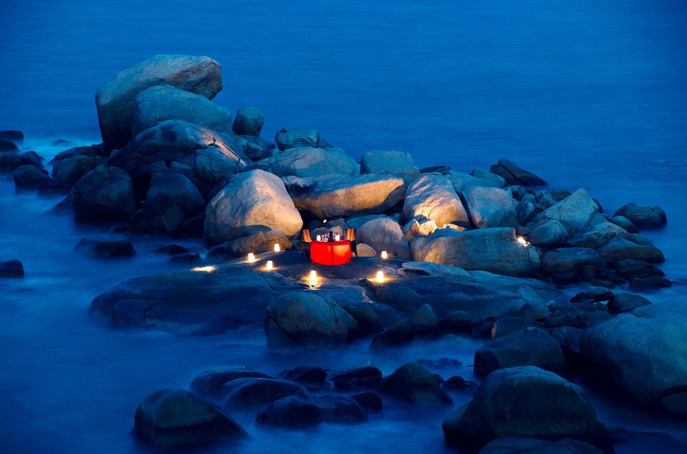 Romantic dinner on the rocksAngsana Resort BintanIndonesia