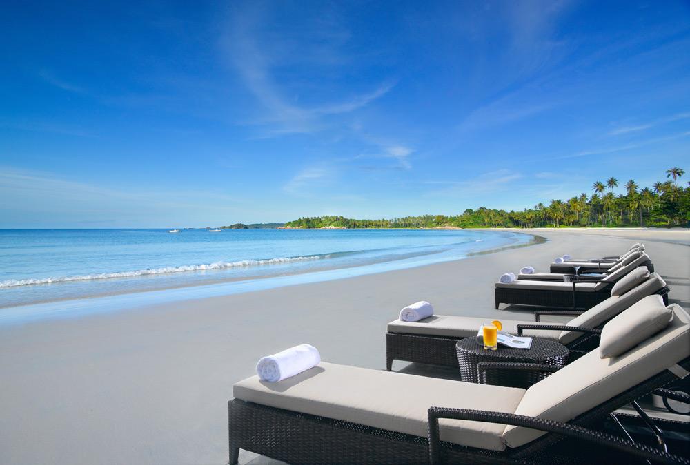 Private Beach at Angsana Resort BintanIndonesia