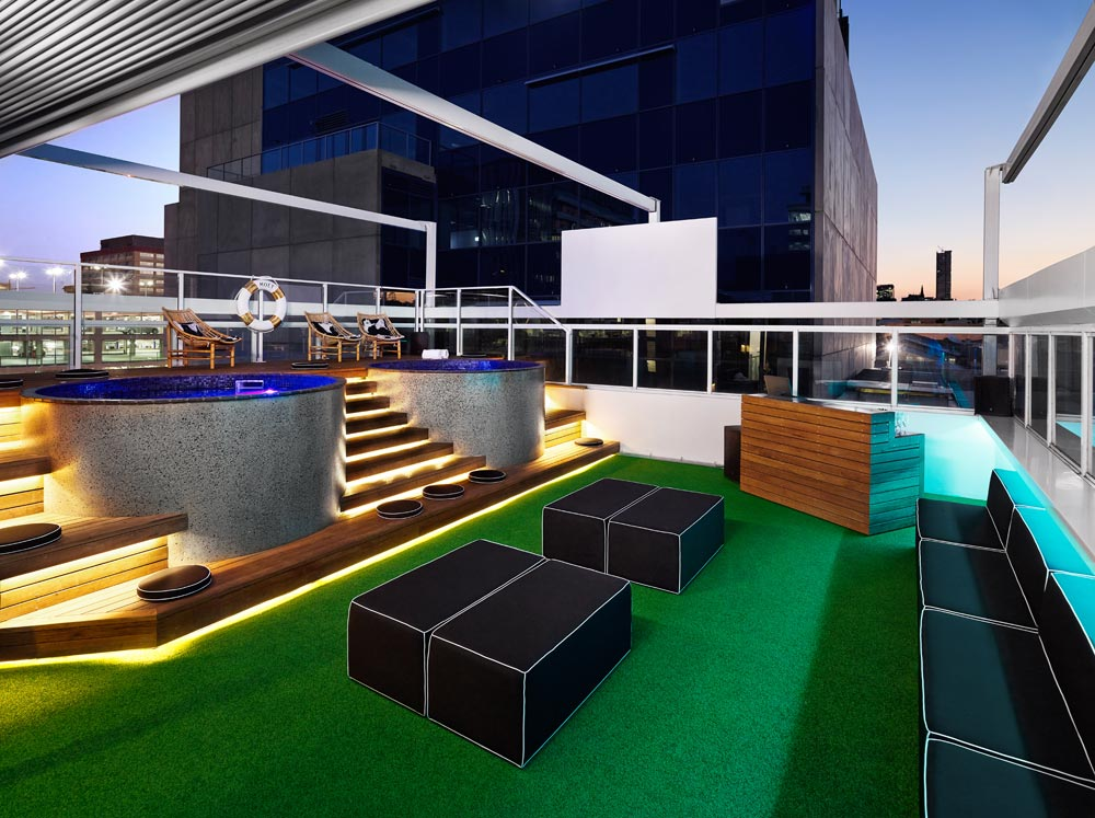 Rooftop Lounge at Limes Hotel BrisbaneAustralia