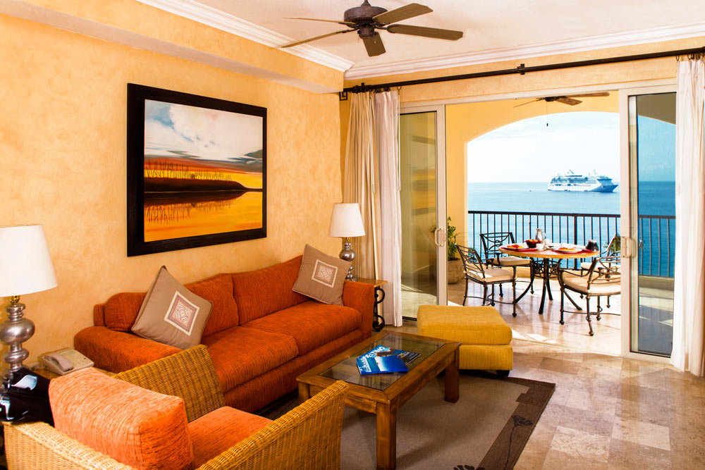 One Bedroom Suite Living Area at Villa Del Arco Beach Resort And Grand SpaCabo San Lucas