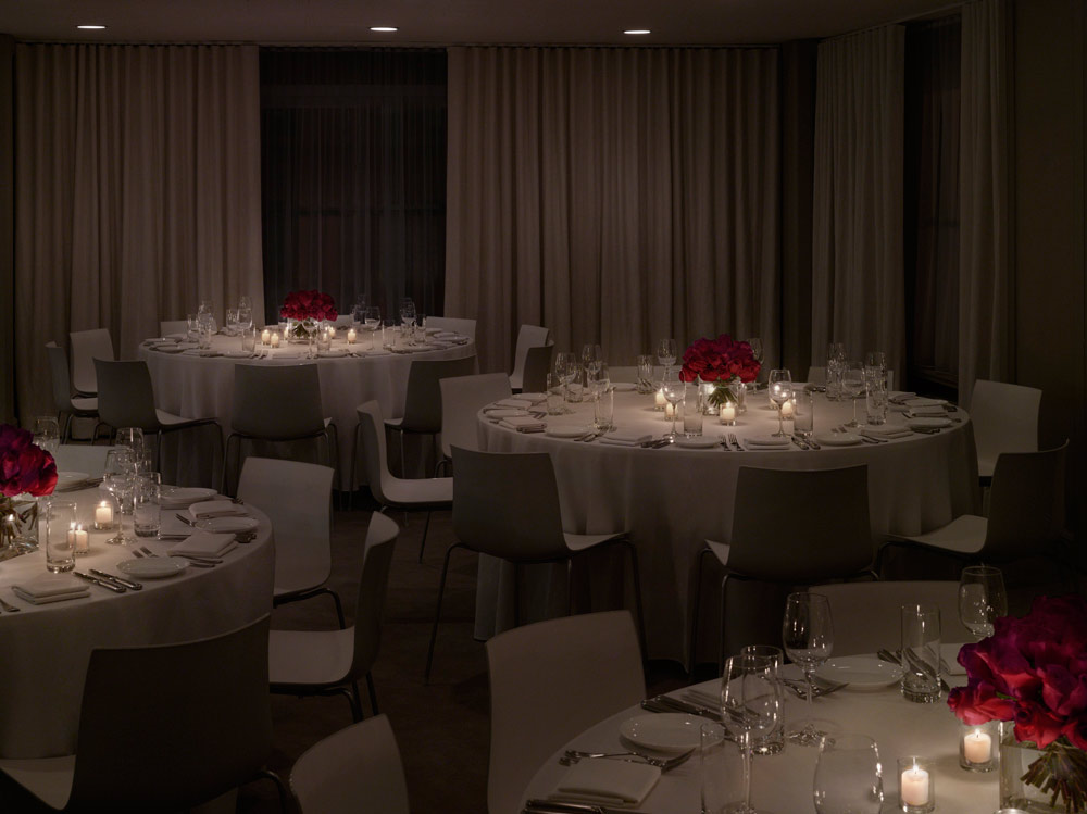 Public Hotel Chicago Banquet rounds for events.