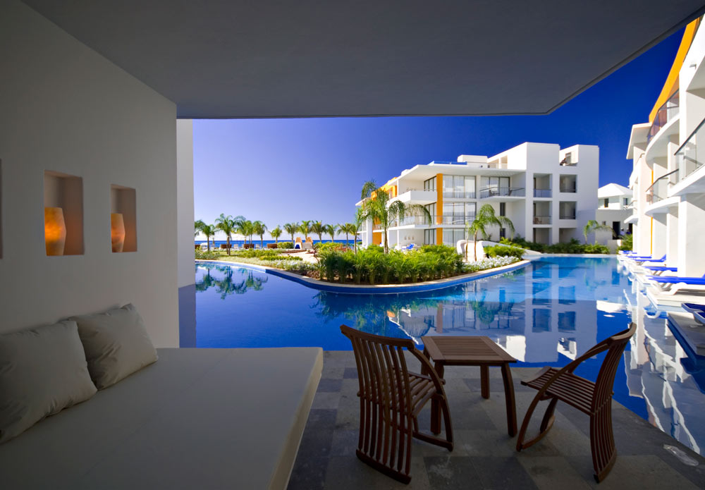 Swim Up Lounge Area at Aura Cozumel Grand Resort