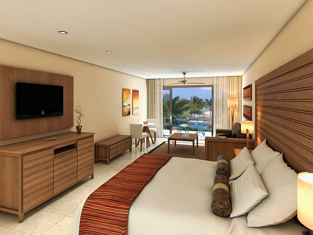 Junior Suite with Ocean View at Aura Cozumel Grand Resort