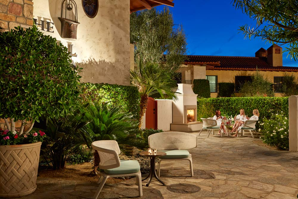Ladies Private Spa Patio at Miramonte Resort and Spa, Indian Wells, CA