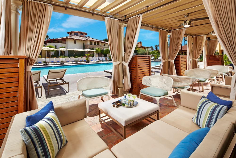 Pool Cabanas at Miramonte Resort and Spa, Indian Wells, CA