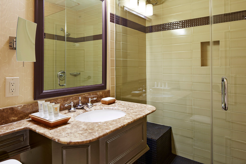 Guest bath at Miramonte Resort and Spa, Indian Wells, CA