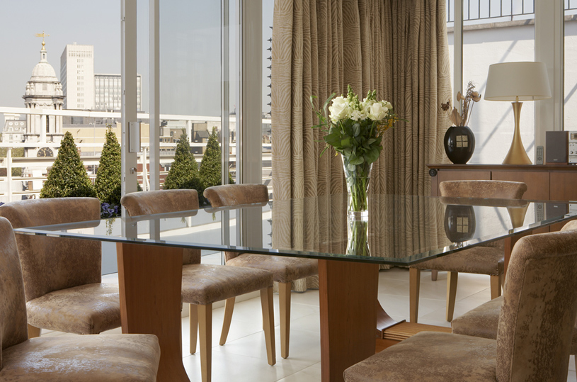 The Westbury London Penthouse Dining Area