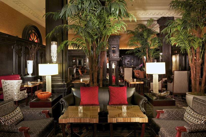 The Algonquin Hotel Lobby at Night