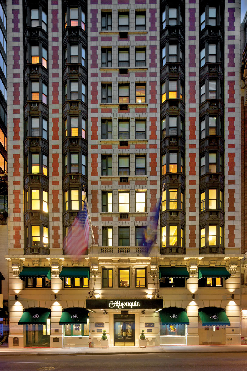 The Algonquin Hotel Exterior at Night