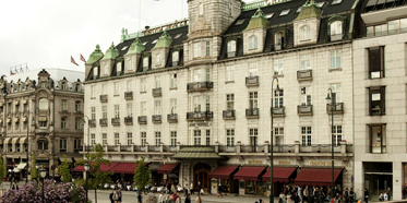 Exterior of the Grand Hotel in Oslo