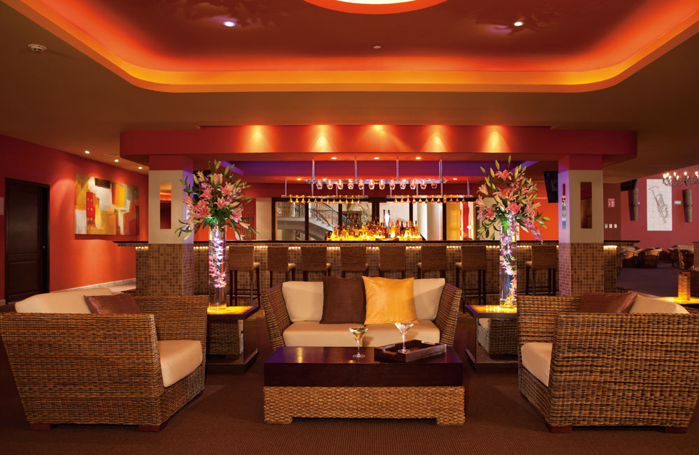 Desires Music Lounge at Secrets Capri Riviera Cancun in Playa Del CarmenMexico
