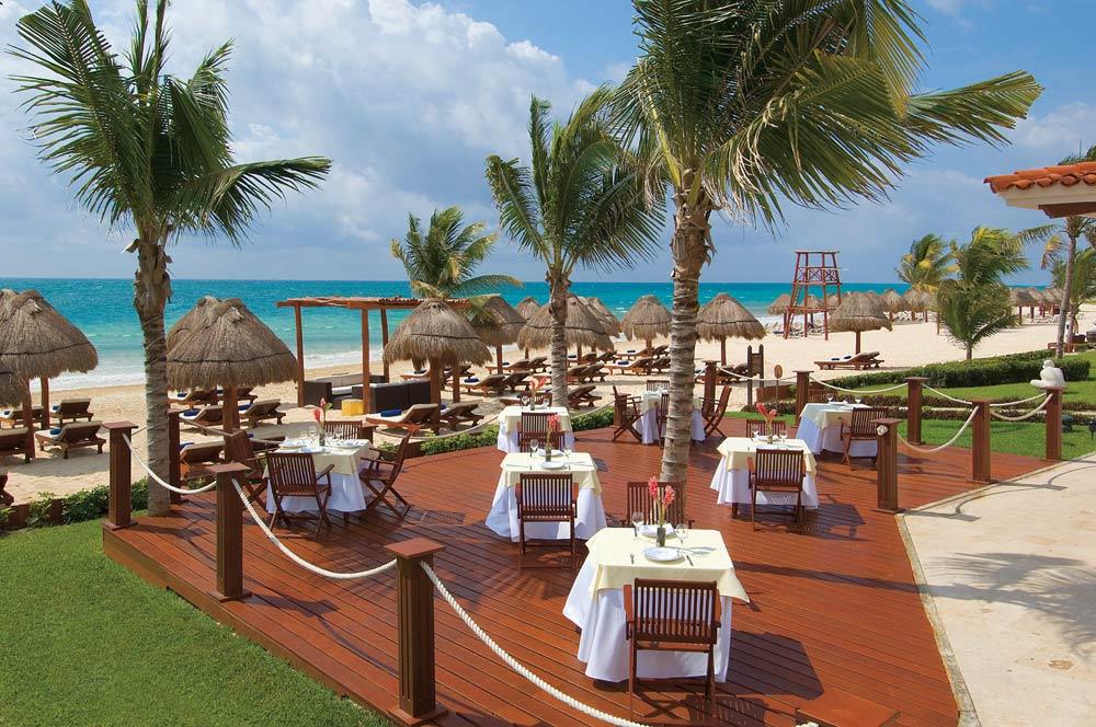 Patio seating at Secrets Capri Riviera Cancun in Playa Del CarmenMexico