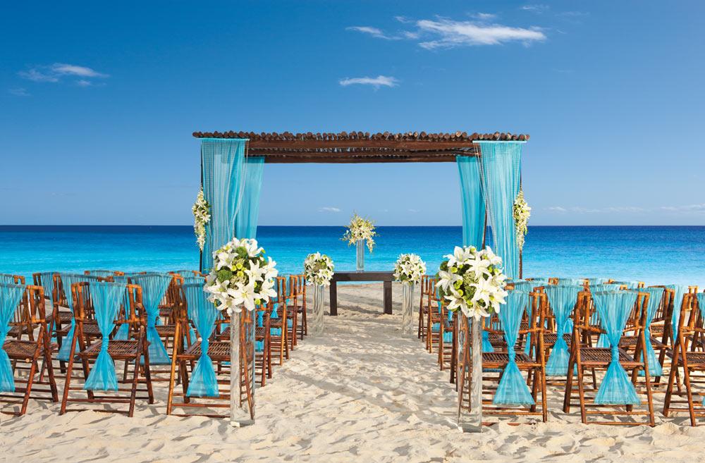 Beachfront wedding at Secrets Capri Riviera Cancun in Playa Del CarmenMexico